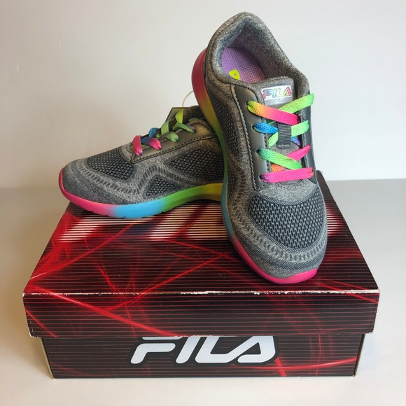 harmonious colors reasonable price temperament shoes Fila Kameo 3 Girls Rainbow Sneakers Shoes 1M NWT